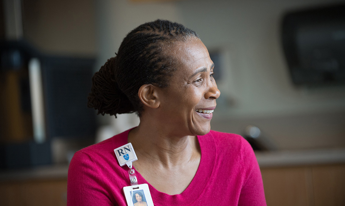 MGH Nurse smiling